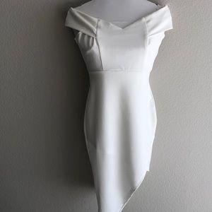 Ivory strapless bodycon